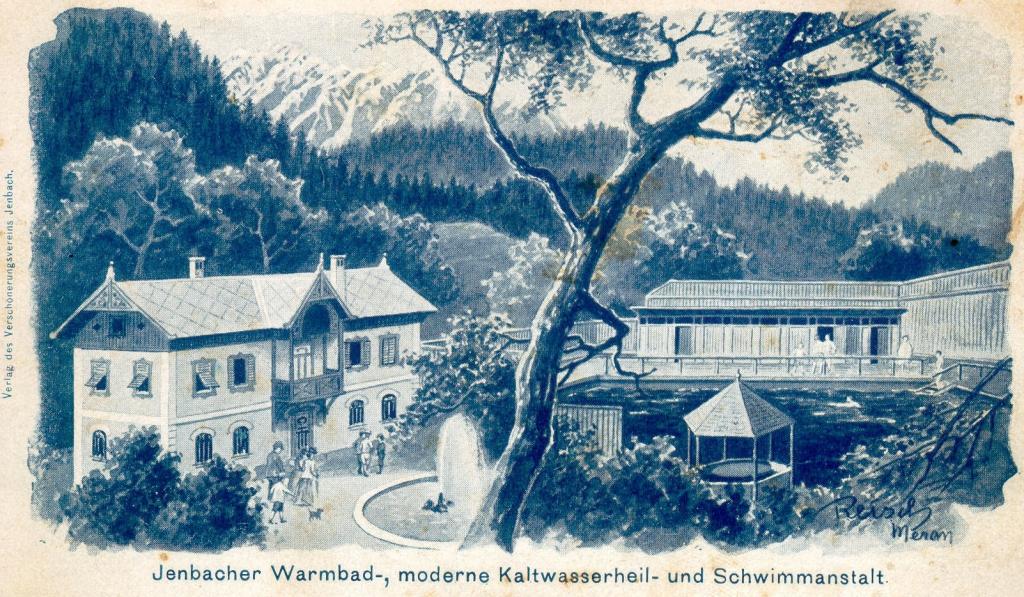 Jenbacher Warmbad u. Schwimmanstalt, um 1900