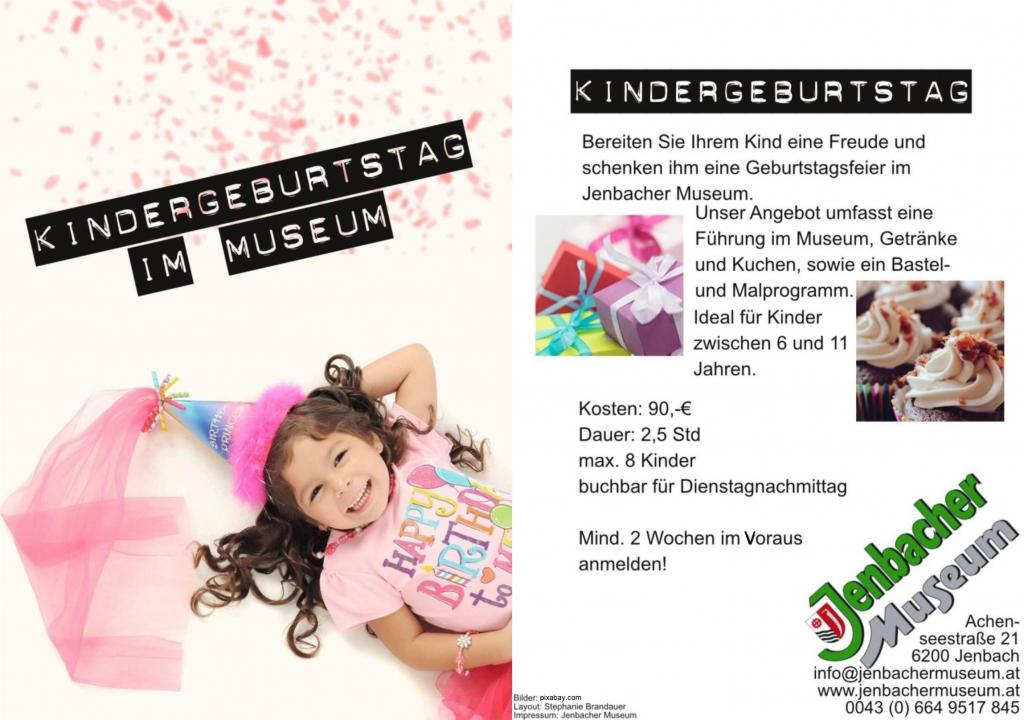 Kindergeburtstag im Jenbacher Museum