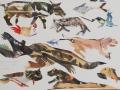 """Collagen von Reiner Schiestl aus der Serie """"Wilde Tiere """""""